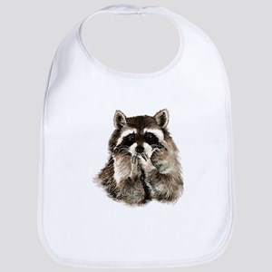 Cute Humorous Watercolor Raccoon Blowing a Kiss Bi