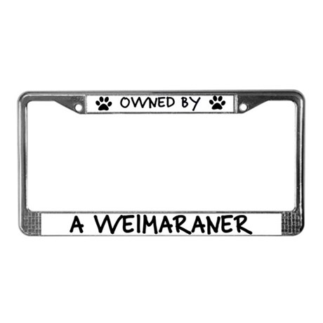 Owned by a Weimaraner License Plate Frame