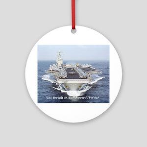 Uss Dwight D. Eisenhower (cvn69) Round Ornament
