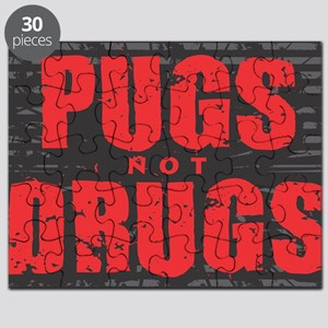 Pugs Not Drugs - Oval Puzzle