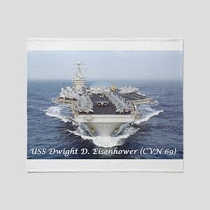 USS Dwight D. Eisenhower (CVN69) Throw Blanket