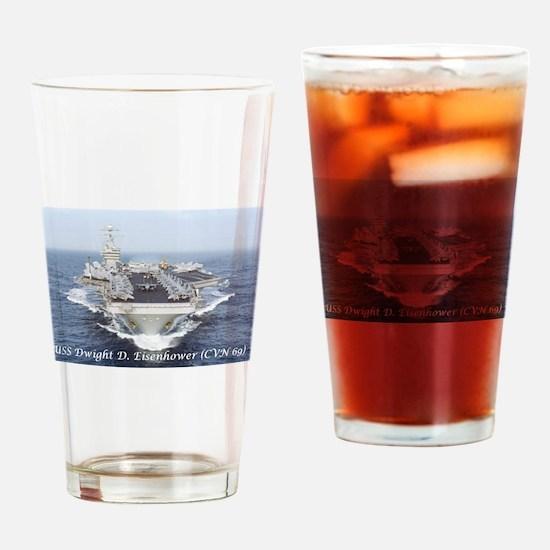 USS Dwight D. Eisenhower (CVN69) Drinking Glass