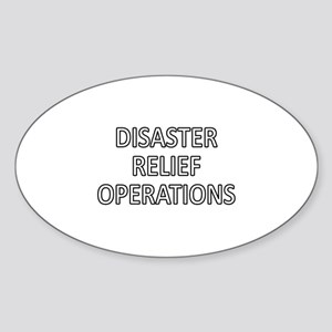Disaster Relief Operations - White Sticker (Oval)