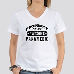 Property of an Awesome Paramedic Women's V-Neck T-