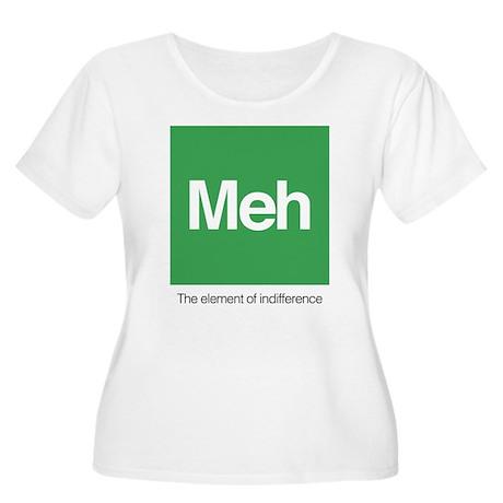 Meh The Eleme Women's Plus Size Scoop Neck T-Shirt
