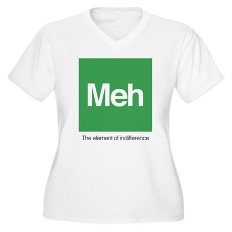 Meh The Element o Women's Plus Size V-Neck T-Shirt