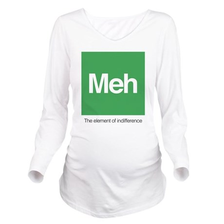 Meh The Element of I Long Sleeve Maternity T-Shirt