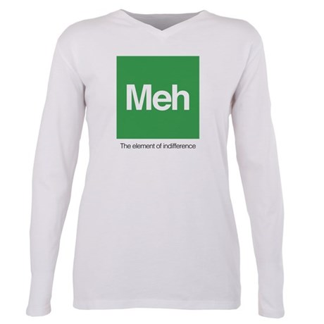 Meh The Element of Indif Plus Size Long Sleeve Tee