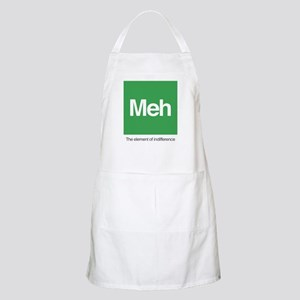 Meh The Element of Indifference Light Apron