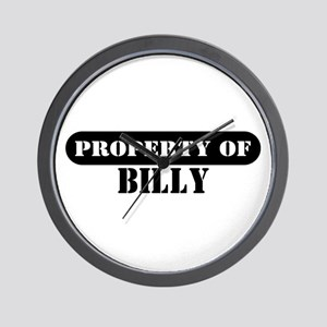 Property of Billy Wall Clock