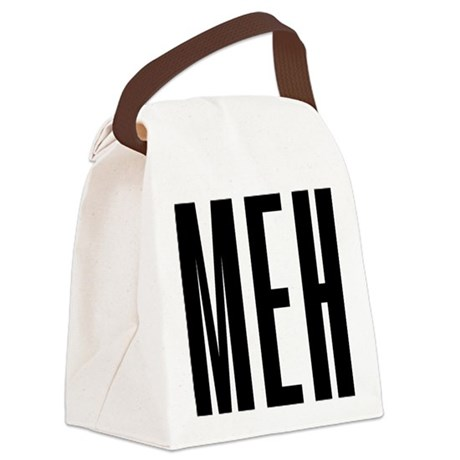 Meh Canvas Lunch Bag
