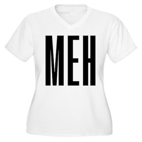 Meh Women's Plus Size V-Neck T-Shirt