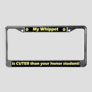 Honor Student Whippet License Plate Frame