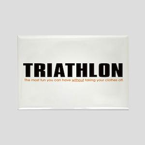 """Triathlon Fun"" Rectangle Magnet"