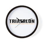 """""""Triathlon Fun"""" Wall Clock"""