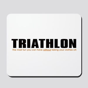 """Triathlon Fun"" Mousepad"