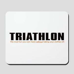 funny triathlon mouse pads cafepress