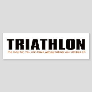 """Triathlon Fun"" Bumper Sticker"