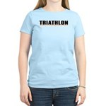 """Triathlon Fun"" Women's Pink T-Shirt"