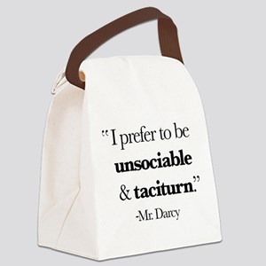 Mr Darcy I Prefer To Be Unsociabl Canvas Lunch Bag