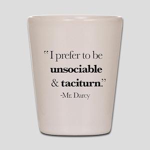 Mr Darcy I Prefer To Be Unsociable & Ta Shot Glass