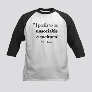 Mr Darcy I Prefer To Be Unsociab Kids Baseball Tee