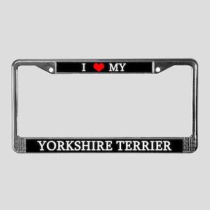 Love Yorkshire Terrier License Plate Frame