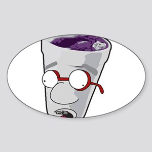 Purple Cup Nerd Sticker