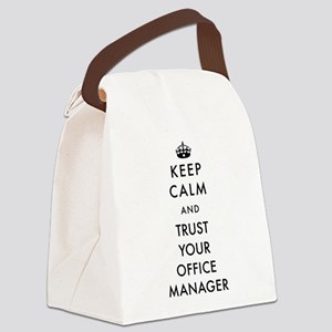 Keep Calm and Trust Your Office M Canvas Lunch Bag