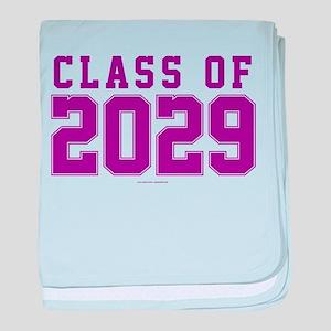Class of 2029 baby blanket