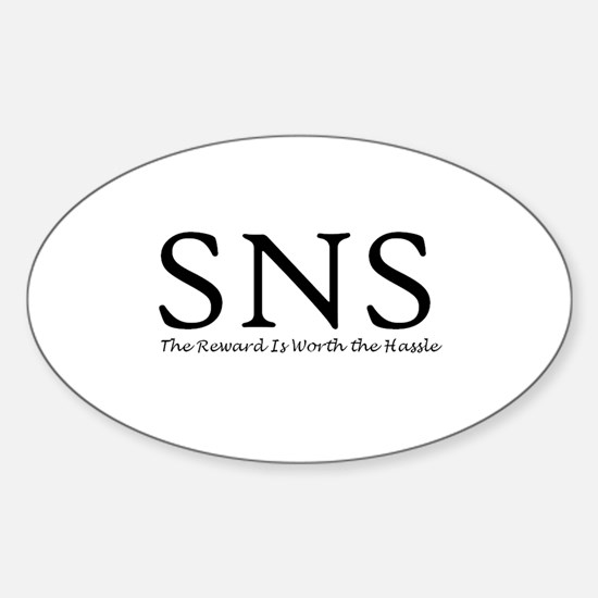 SNS Oval Decal