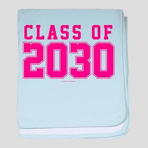 Class of 2030 baby blanket