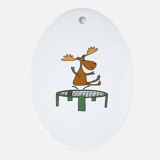 Unique Trampoline Oval Ornament