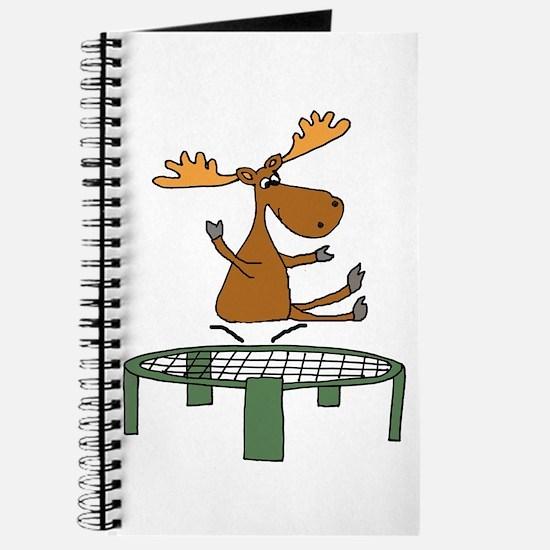 Funny Moose on Trampoline Journal