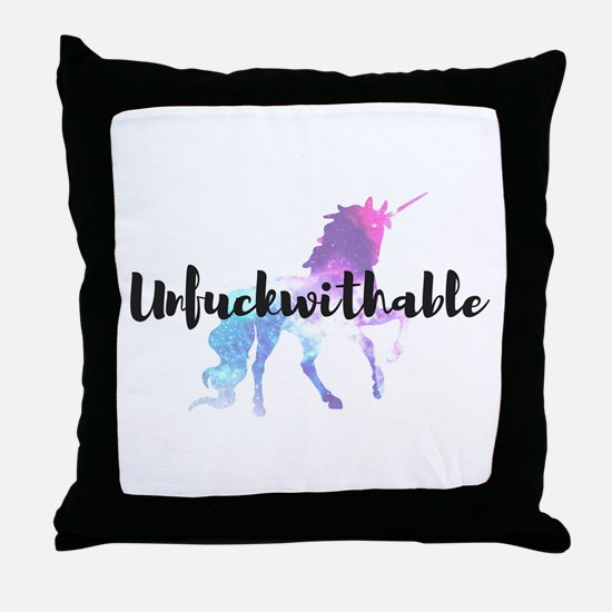 Unfuckwithable Throw Pillow