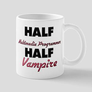 Half Multimedia Programmer Half Vampire Mugs