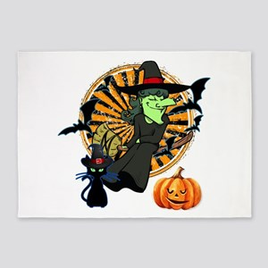 Witch Halloween 5'x7'Area Rug