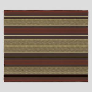 Mid Century Modern Stripes King Duvet
