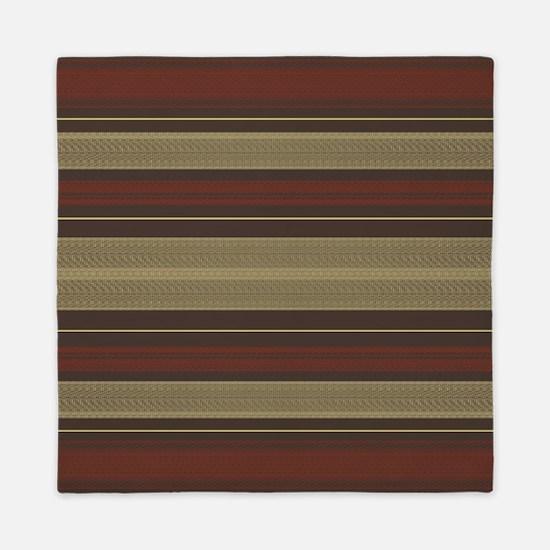 Mid Century Modern Stripes Queen Duvet