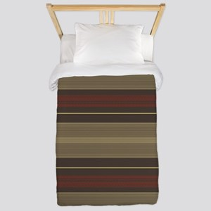 Mid Century Modern Stripes Twin Duvet Cover