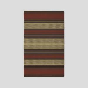 Mid Century Modern Stripes Area Rug