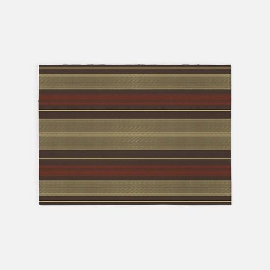 Mid Century Modern Stripes 5'x7'Area Rug