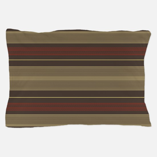Mid Century Modern Stripes Pillow Case