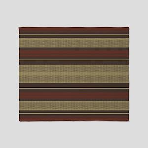 Mid Century Modern Stripes Throw Blanket