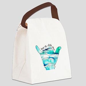KTSA Shaka Wave Canvas Lunch Bag