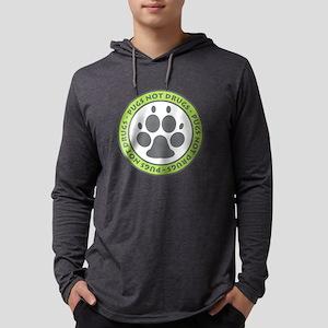Pugs Not Drugs - Green Long Sleeve T-Shirt