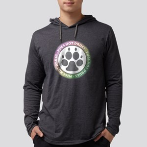 Pugs Not Drugs - Rainbow Long Sleeve T-Shirt