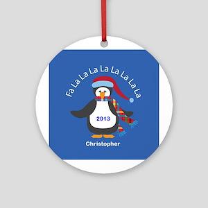 Personalized FaLaLaLaLa Penguin Christmas Ornament