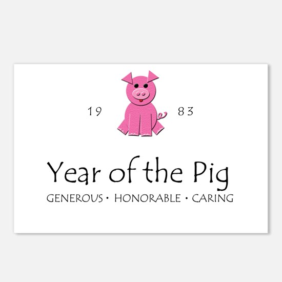 """""""Year of the Pig"""" [1983] Postcards (Package of 8)"""