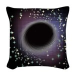 Black Hole - Let Go All Your Woven Throw Pillow